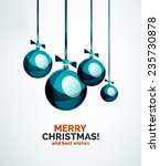 christmas ball  bauble  new... | Shutterstock . vector #235730878