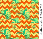hand drawn exotic pattern with... | Shutterstock .eps vector #235747756