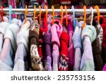 colorful thick warm winter...   Shutterstock . vector #235753156