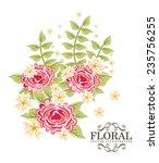 floral  design   vector...   Shutterstock .eps vector #235756255
