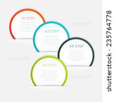 abstract business info graphics ... | Shutterstock .eps vector #235764778