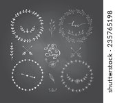 cute frames hand drawn.... | Shutterstock .eps vector #235765198