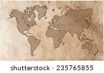 world map with track lines in... | Shutterstock .eps vector #235765855