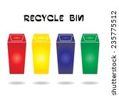 recycle bin icon on white... | Shutterstock .eps vector #235775512