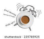 Coffee Cup Time Clock Concept...
