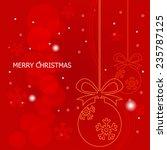 christmas background   vector | Shutterstock .eps vector #235787125