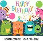 birthday greeting card with... | Shutterstock .eps vector #235788502