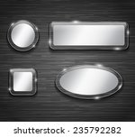 metallic and glass buttons on... | Shutterstock . vector #235792282