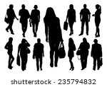 people silhouettes set | Shutterstock .eps vector #235794832