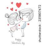 Valentine's Day. Boy And Girl...