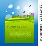 flower and grass banner. vector ... | Shutterstock .eps vector #235813492