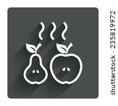 apple and pear sign icon. baked ...