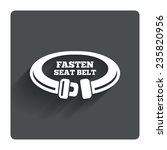 fasten seat belt sign icon....