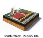 3d illustration of heavy... | Shutterstock . vector #235822186