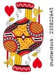 jack of hearts without playing... | Shutterstock .eps vector #235822645