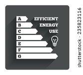 energy efficiency icon....