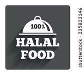 100  halal food product sign...