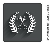 scissors cut hair sign icon....