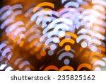 christmas bokeh background wifi ... | Shutterstock . vector #235825162
