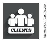 clients sign icon. group of...