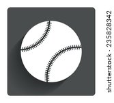 baseball ball sign icon. sport...