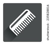 comb hair sign icon. barber...