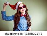 funny hipster girl in heart