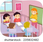 illustration of young students... | Shutterstock .eps vector #235832482