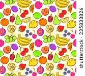 fresh fruit seamless pattern... | Shutterstock .eps vector #235833826