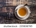 Closeup Of Cup Of Tea On...