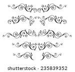 vintage ornamental vector frames | Shutterstock .eps vector #235839352