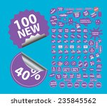 100 sale shop stickers icons ...