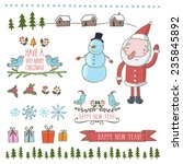 christmas and new year set in... | Shutterstock .eps vector #235845892