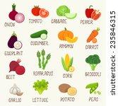 vegetables vector icon set | Shutterstock .eps vector #235846315