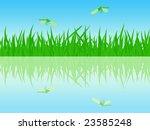 the beautiful summer waterside...   Shutterstock .eps vector #23585248