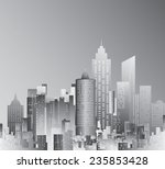 abstract city skyscrapers  | Shutterstock .eps vector #235853428
