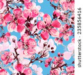 seamless pattern of spring... | Shutterstock . vector #235856416
