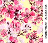 seamless pattern of spring... | Shutterstock . vector #235856455
