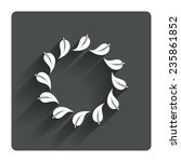 wreath of leaves sign icon....