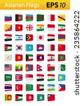 asian flags | Shutterstock .eps vector #235864222