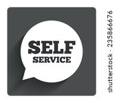 self service sign icon....