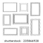 vector set of vintage photo... | Shutterstock .eps vector #235866928