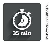 timer sign icon. 35 minutes...