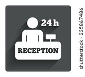 reception sign icon. 24 hours...