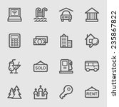 travel web icons set | Shutterstock .eps vector #235867822