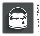 bucket of paint icon. painting...