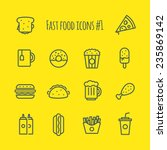 fast food line icons set 1 | Shutterstock .eps vector #235869142