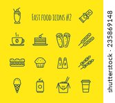 fast food line icons set 2 | Shutterstock .eps vector #235869148
