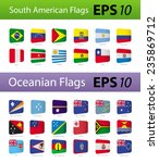 south american and oceania flags | Shutterstock .eps vector #235869712