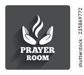 prayer room sign icon. religion ...